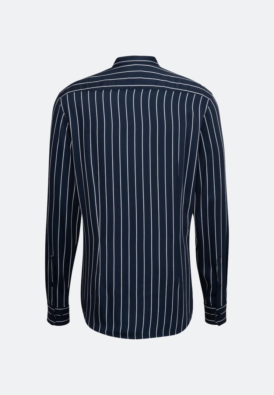 Twill Business Hemd in Shaped mit Stehkragen in Dunkelblau    Seidensticker Onlineshop