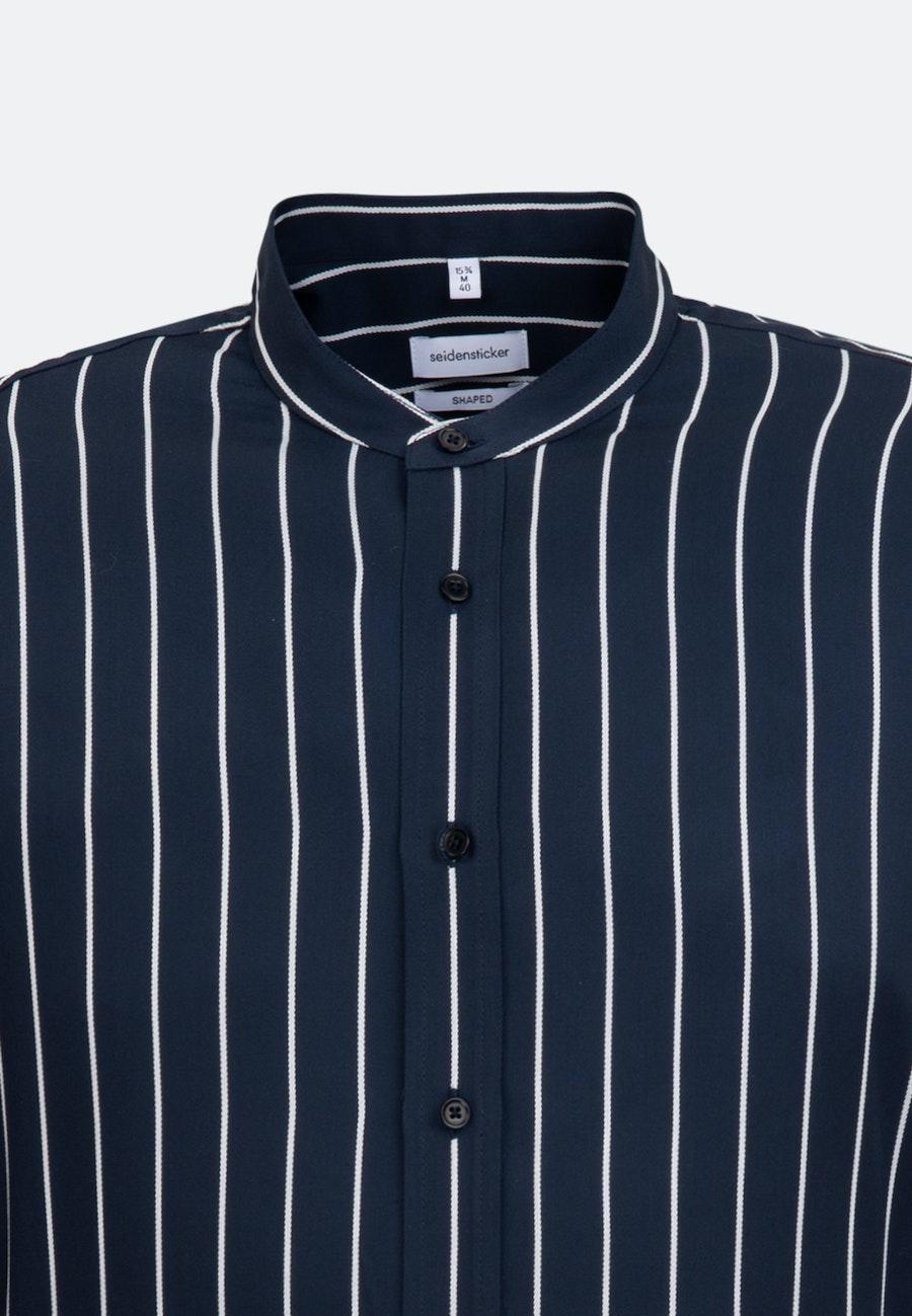 Bügelfreies Twill Business Hemd in Shaped mit Stehkragen in Dunkelblau |  Seidensticker Onlineshop