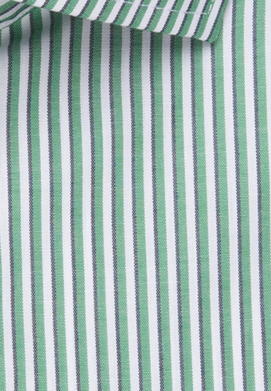 Bügelfreies Popeline Kurzarm Business Hemd in Regular mit Kentkragen in Grün |  Seidensticker Onlineshop
