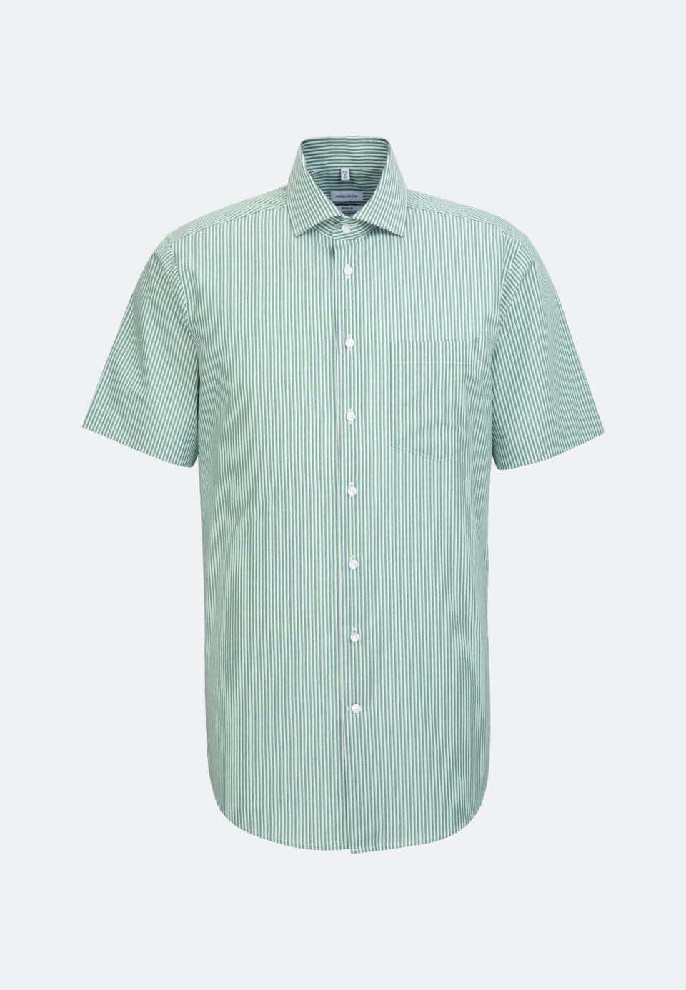 Non-iron Poplin Short sleeve Business Shirt in Regular with Kent-Collar in Green    Seidensticker Onlineshop
