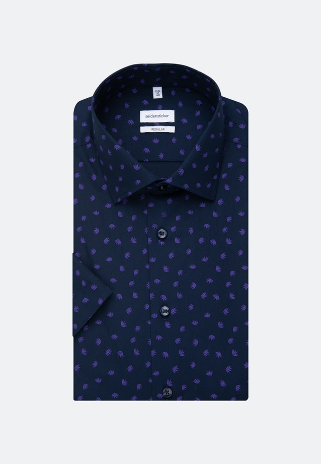 Easy-iron Poplin Short sleeve Business Shirt in Regular with Kent-Collar in Purple |  Seidensticker Onlineshop