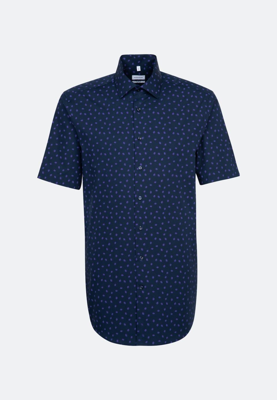 Popeline Kurzarm Business Hemd in Regular mit Kentkragen in Lila |  Seidensticker Onlineshop