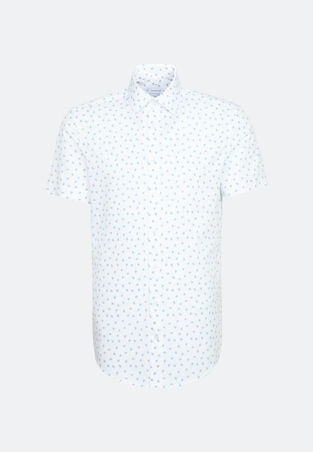 Easy-iron Popeline Short sleeve Business Shirt in Slim with Kent-Collar in Turquoise |  Seidensticker Onlineshop