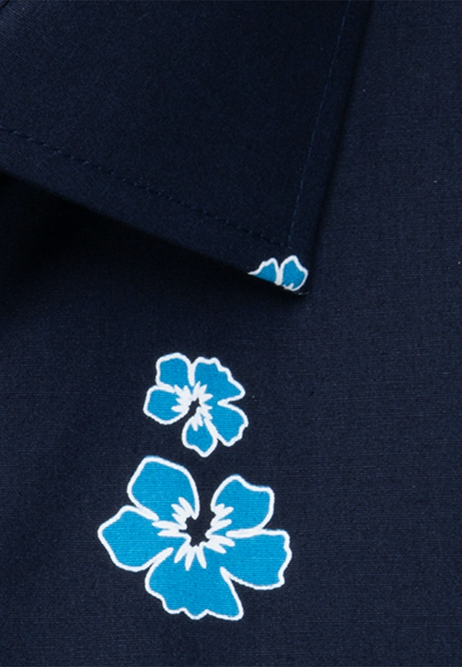 Easy-iron Popeline Short sleeve Business Shirt in Slim with Kent-Collar in Turquoise |  Seidensticker Onlineshop