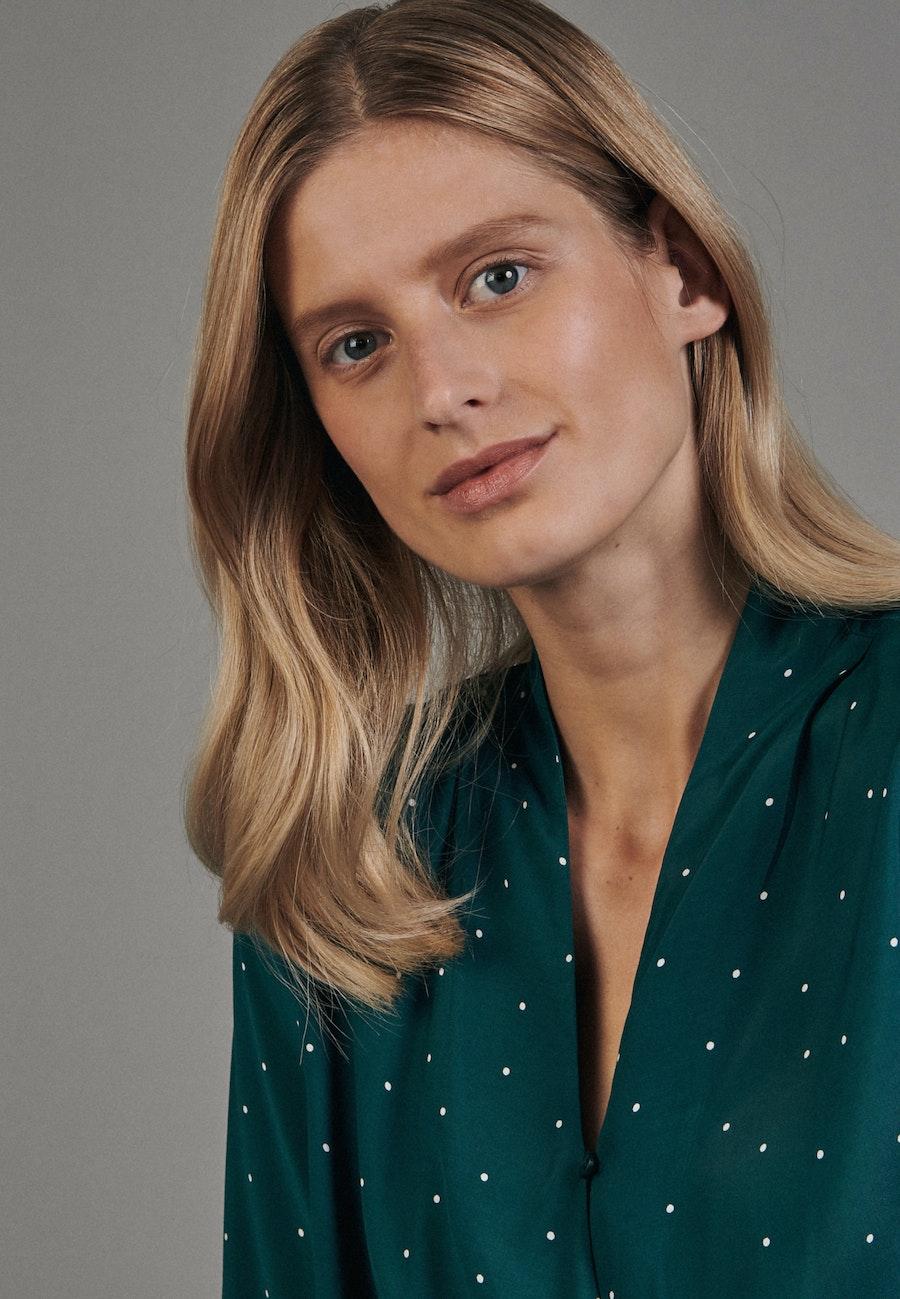 Voile Wraparound Blouse made of 100% Viscose in Green |  Seidensticker Onlineshop