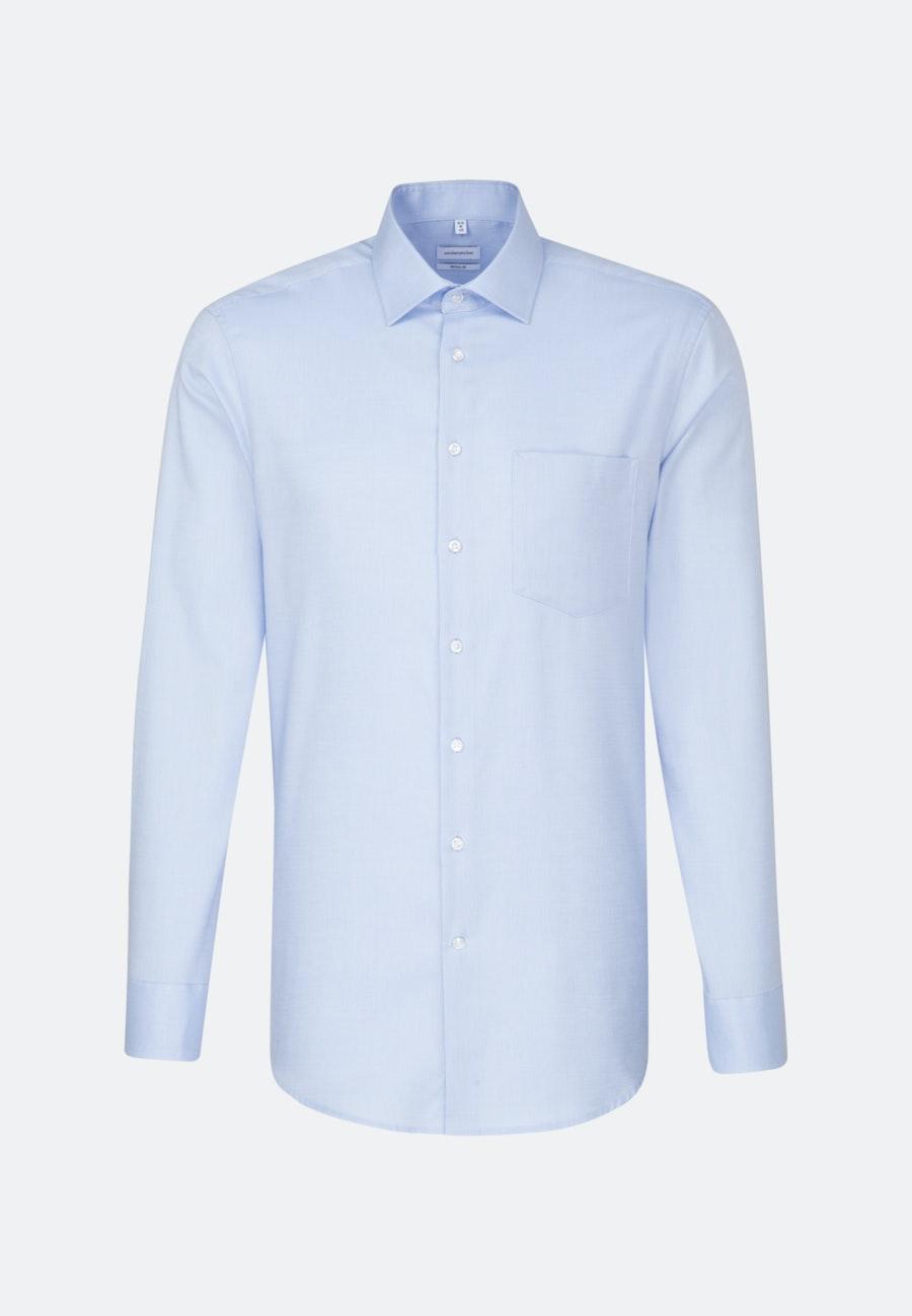 Bügelfreies Struktur Business Hemd in Regular mit Kentkragen und extra langem Arm in Hellblau |  Seidensticker Onlineshop