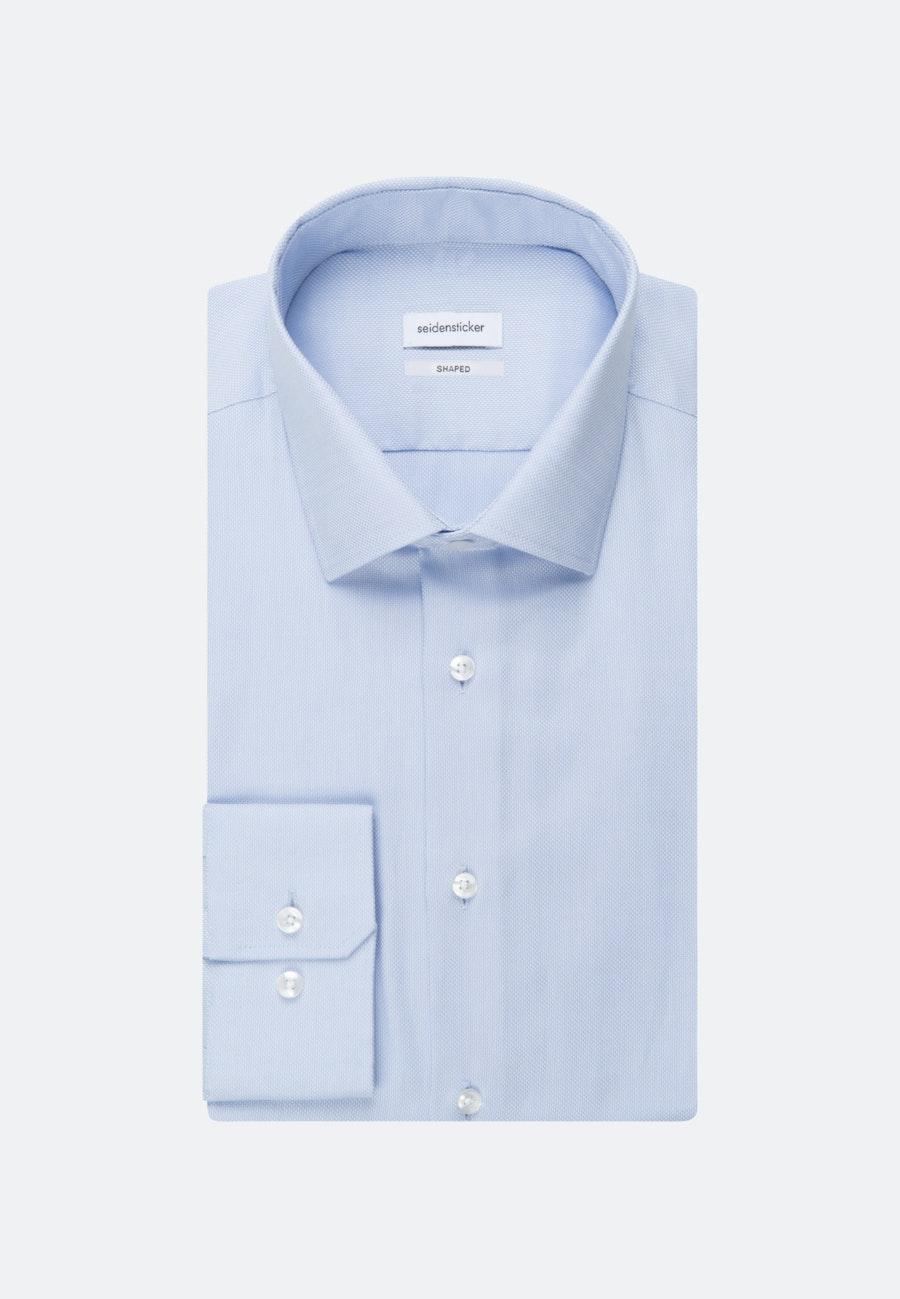Bügelfreies Struktur Business Hemd in Shaped mit Kentkragen und extra langem Arm in Hellblau    Seidensticker Onlineshop