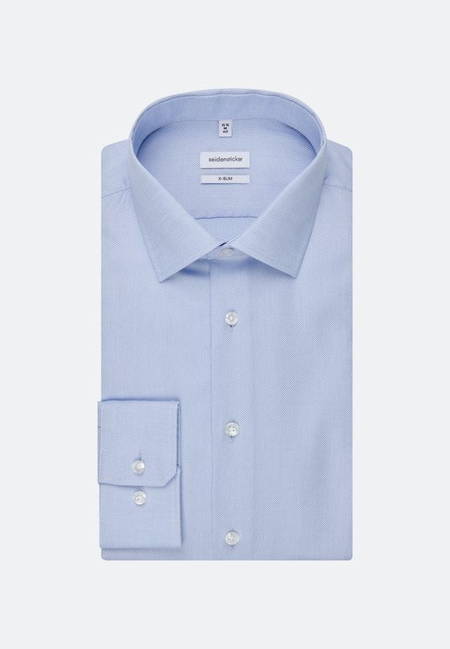 Bügelfreies Struktur Business Hemd in X-Slim mit Kentkragen und extra langem Arm in Hellblau |  Seidensticker Onlineshop