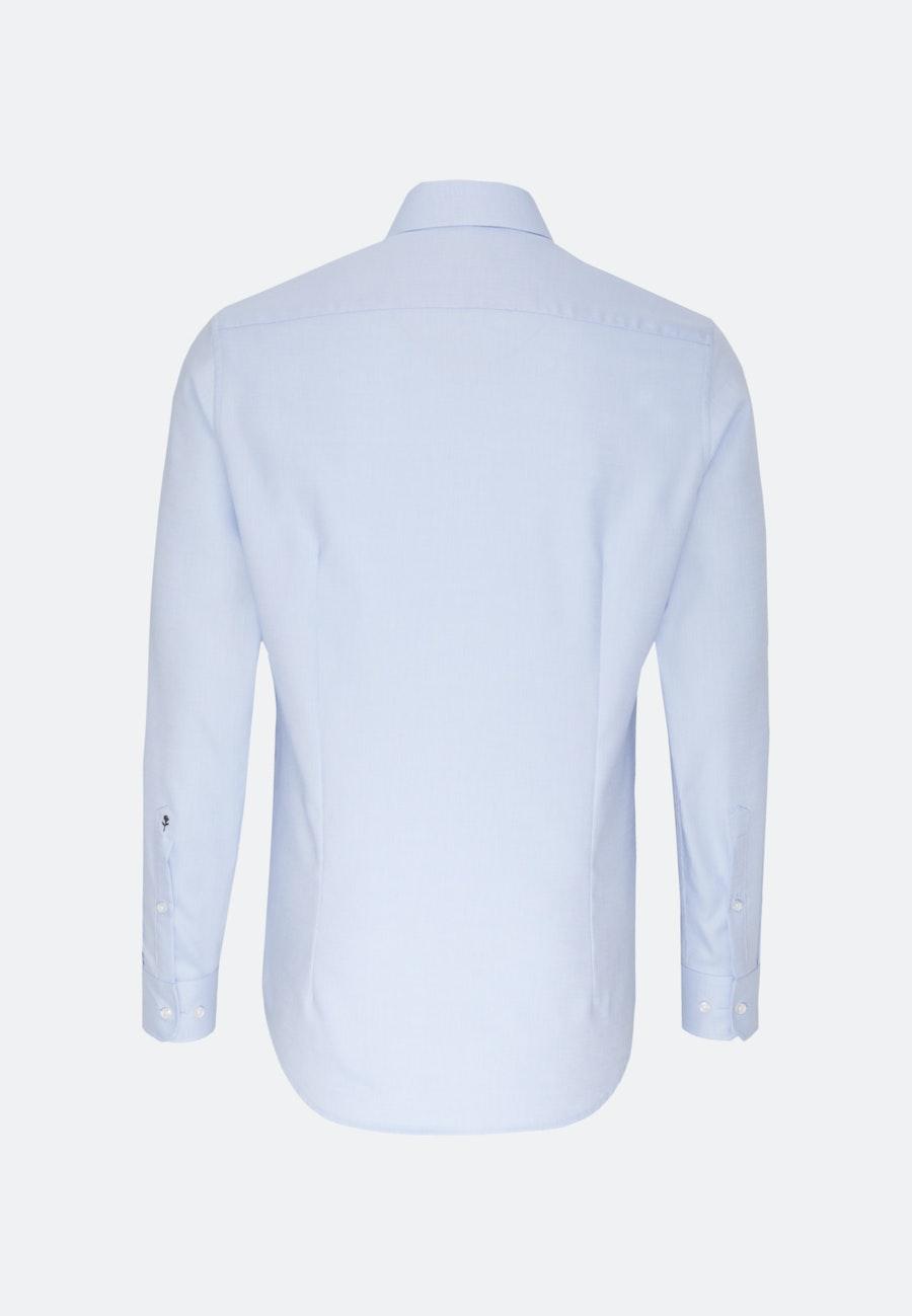 Bügelfreies Struktur Business Hemd in X-Slim mit Kentkragen und extra langem Arm in Hellblau    Seidensticker Onlineshop