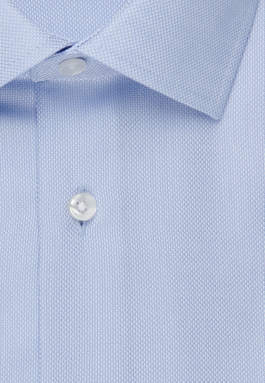 Non-iron Struktur Business Shirt in Slim with Kent-Collar and extra long sleeve in Light blue    Seidensticker Onlineshop