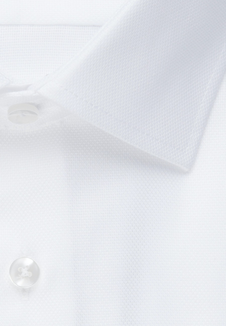 Bügelfreies Struktur Business Hemd in Slim mit Kentkragen und extra langem Arm in Weiß |  Seidensticker Onlineshop