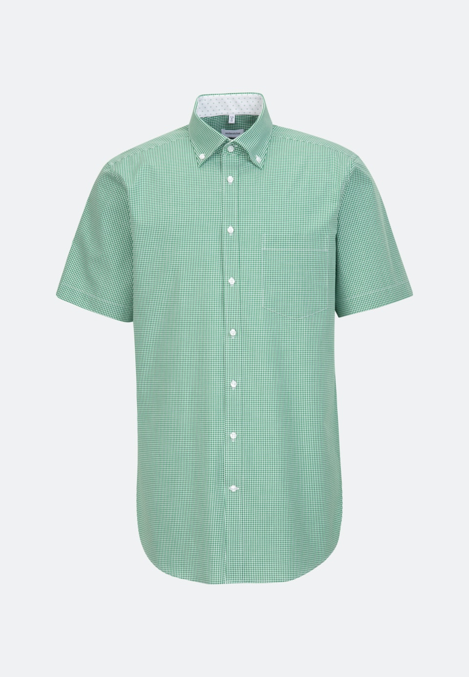 Non-iron Popeline Short sleeve Business Shirt in Regular with Button-Down-Collar in Green |  Seidensticker Onlineshop