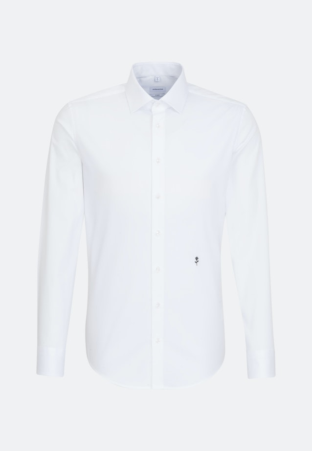 Non-iron Popeline Business Shirt in X-Slim with Kent-Collar in White |  Seidensticker Onlineshop