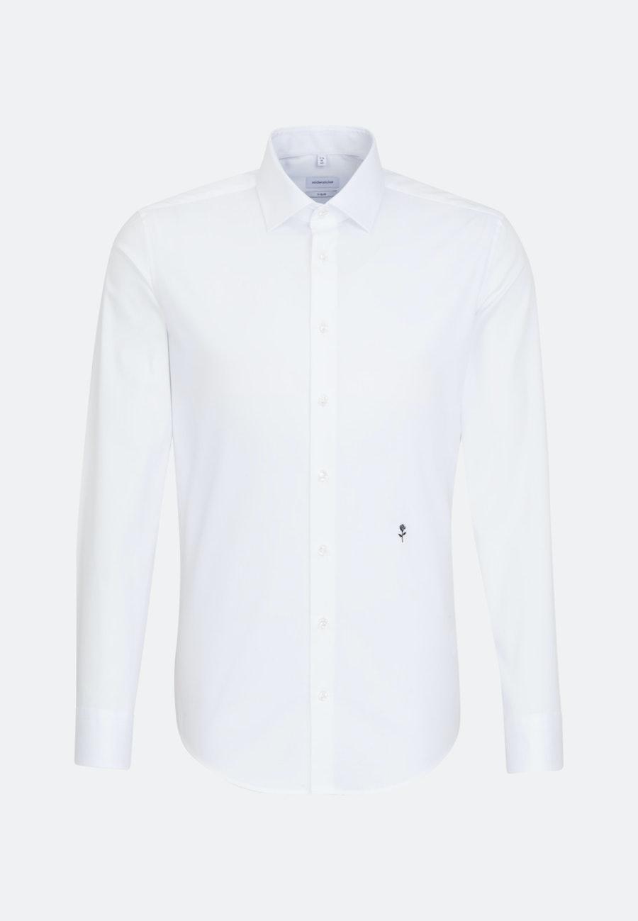 Bügelfreies Popeline Business Hemd in X-Slim mit Kentkragen in Weiß    Seidensticker Onlineshop