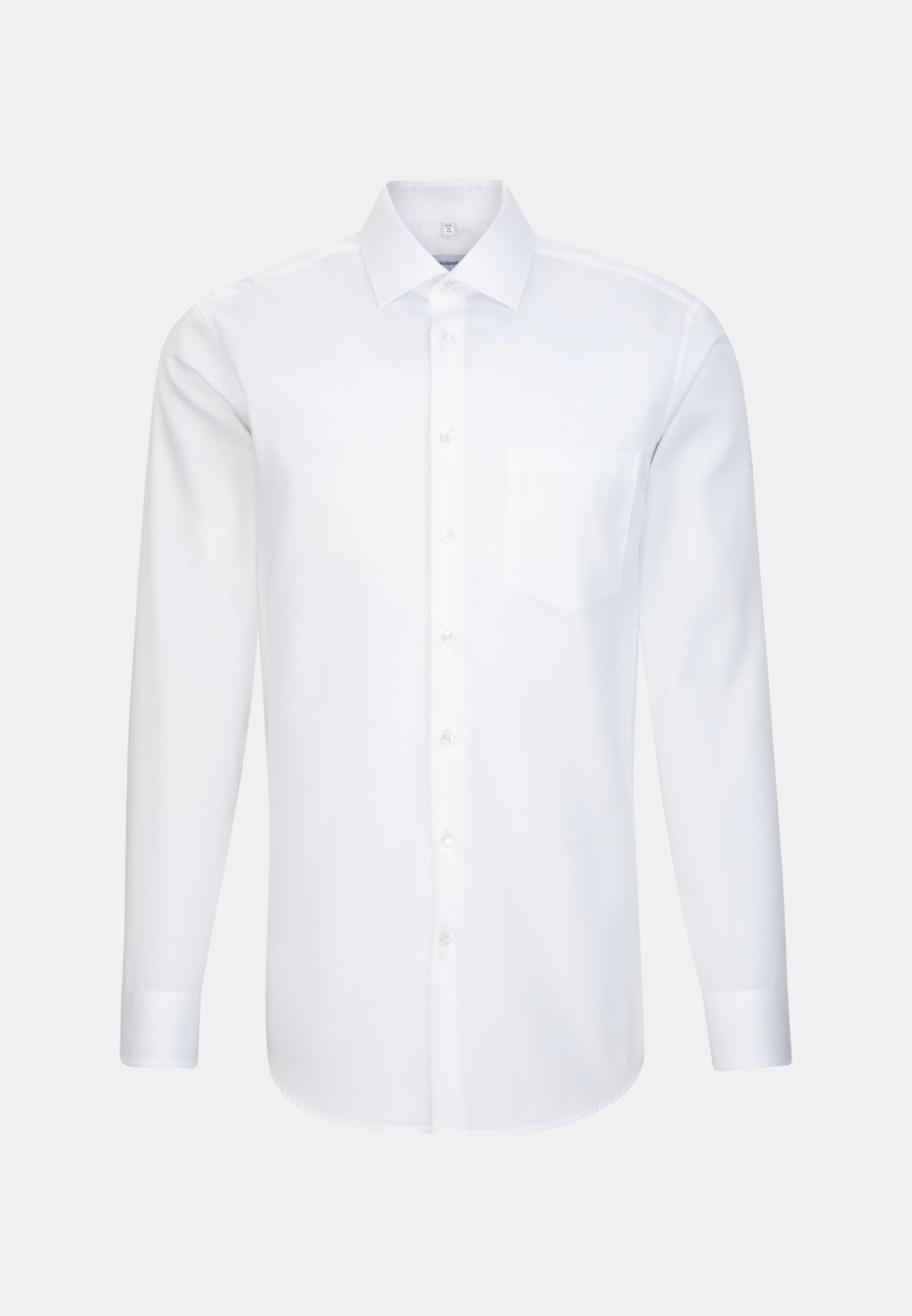 Easy-iron Cotele Business Shirt in Regular with Kent-Collar in White |  Seidensticker Onlineshop