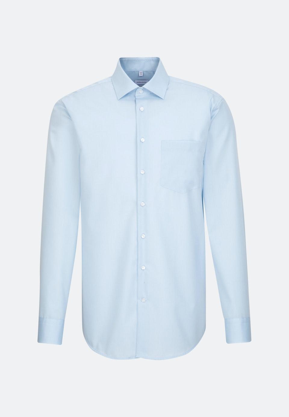 Non-iron Fil a fil Business Shirt in Regular with Kent-Collar in Light blue    Seidensticker Onlineshop