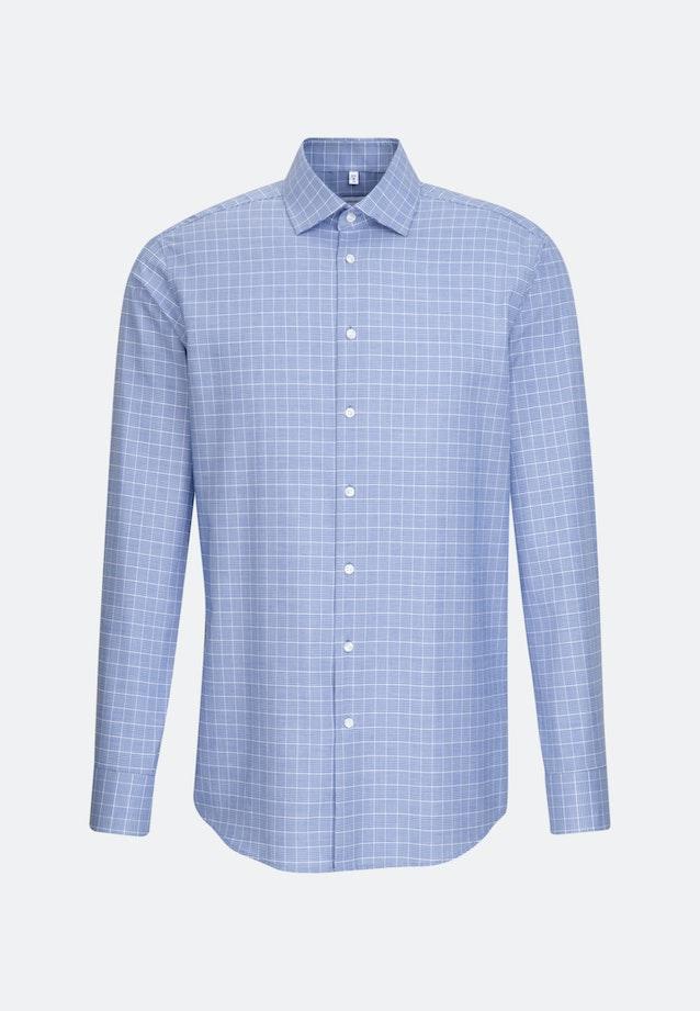 Easy-iron Glencheck Business Shirt in Regular with Kent-Collar in Medium blue |  Seidensticker Onlineshop