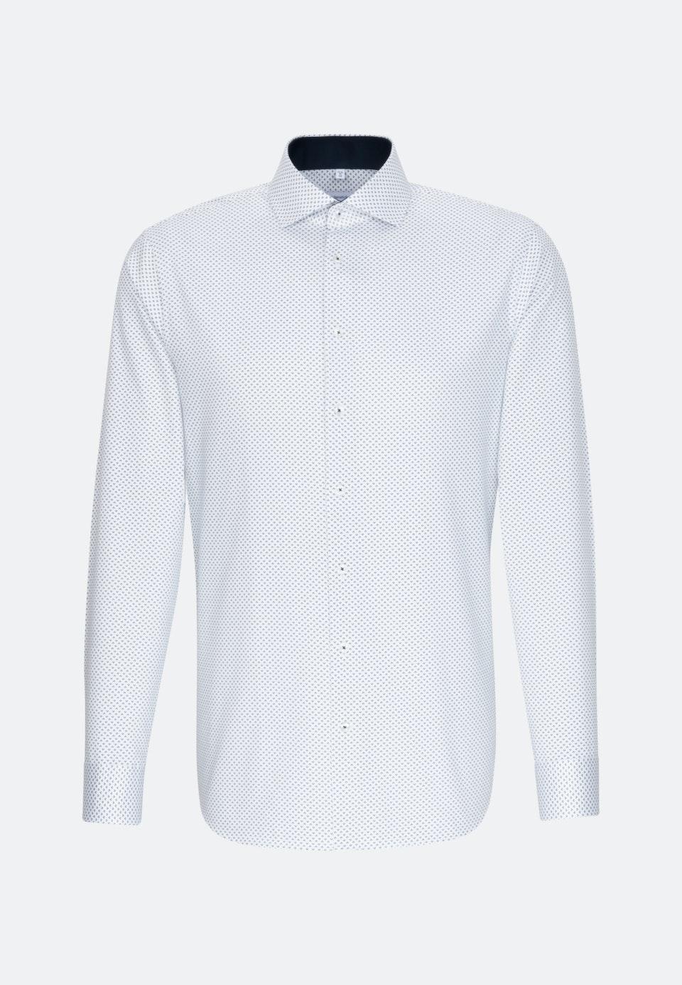 Bügelleichtes Twill Business Hemd in X-Slim mit Kentkragen und extra langem Arm in Dunkelblau    Seidensticker Onlineshop