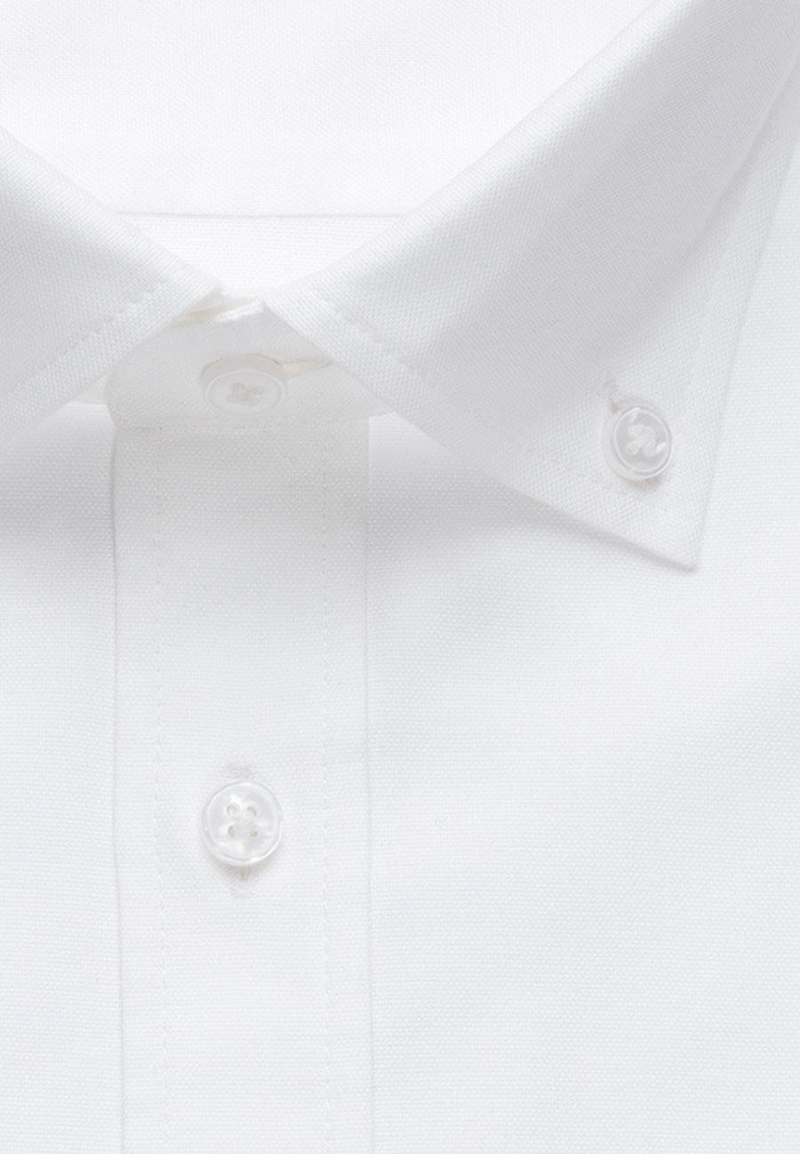 Bügelleichtes Oxford Business Hemd in Slim mit Button-Down-Kragen und extra langem Arm in Weiß |  Seidensticker Onlineshop