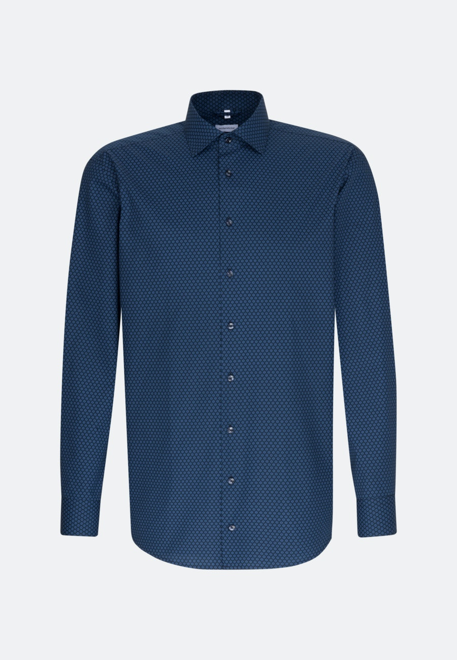Easy-iron Popeline Business Shirt in Comfort with Kent-Collar in Light blue |  Seidensticker Onlineshop