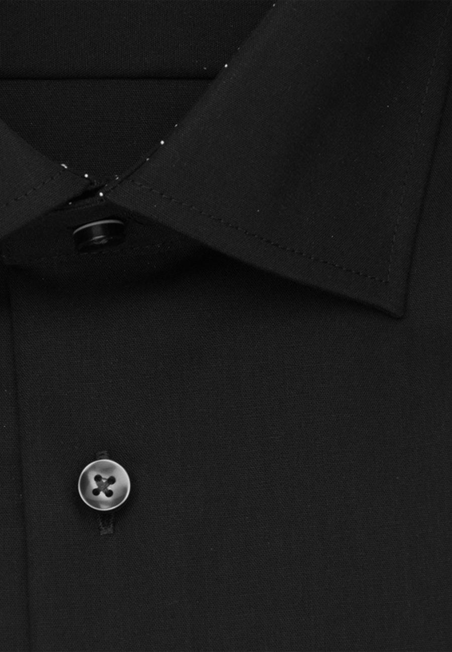 Bügelfreies Popeline Business Hemd in Regular mit Kentkragen und extra langem Arm in Schwarz    Seidensticker Onlineshop