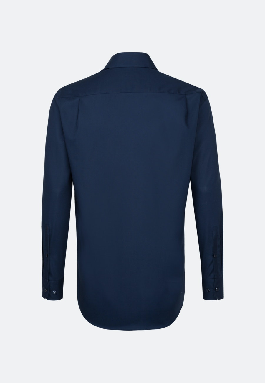 Non-iron Poplin Business Shirt in Regular with Kent-Collar and extra long sleeve in Dark blue |  Seidensticker Onlineshop