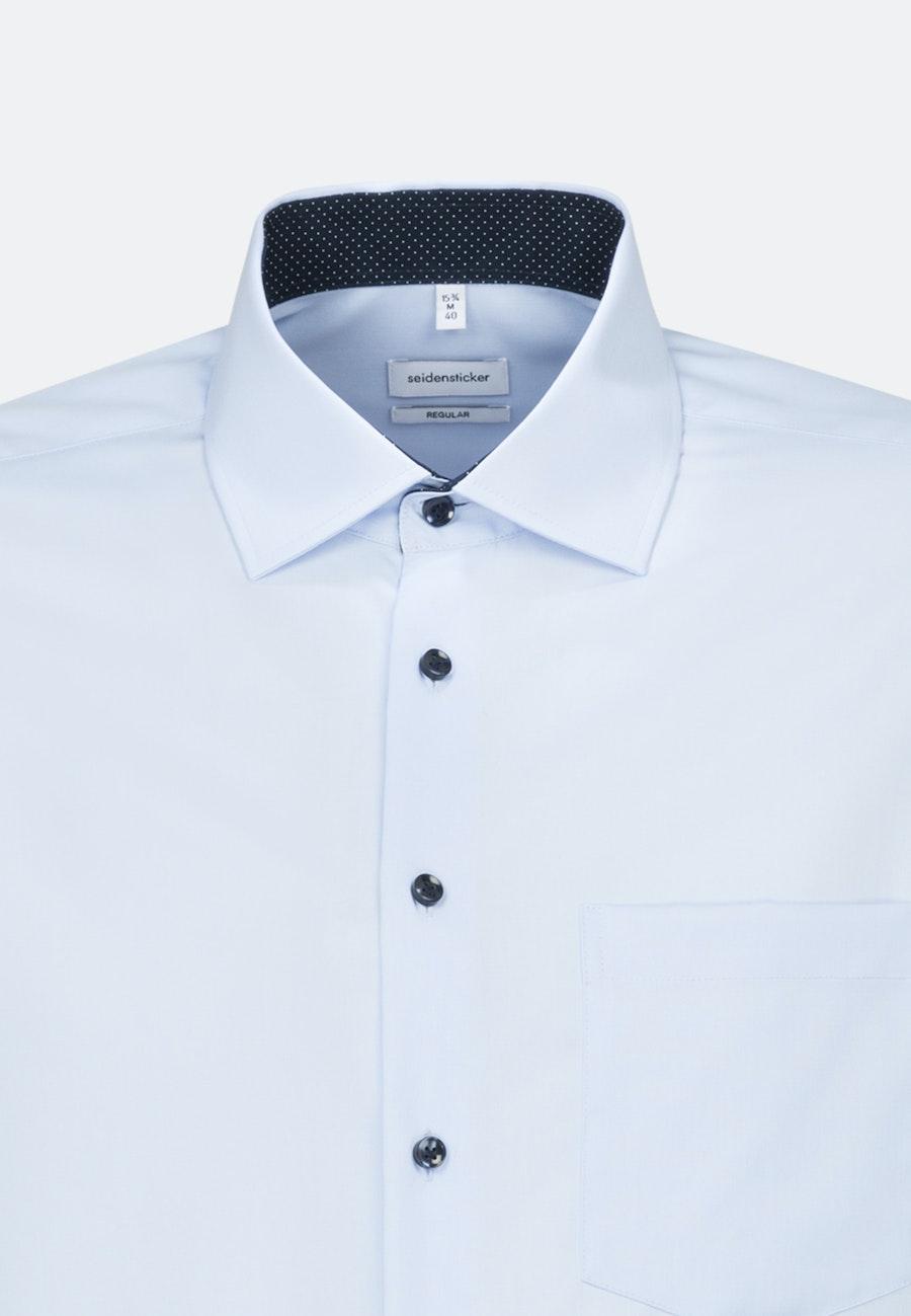 Non-iron Popeline Business Shirt in Regular with Kent-Collar and extra long sleeve in Medium blue |  Seidensticker Onlineshop
