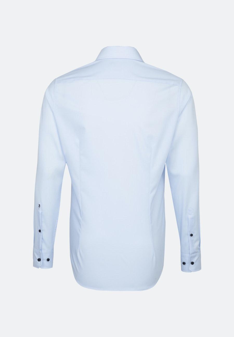 Bügelfreies Popeline Business Hemd in Shaped mit Kentkragen und extra langem Arm in Mittelblau    Seidensticker Onlineshop