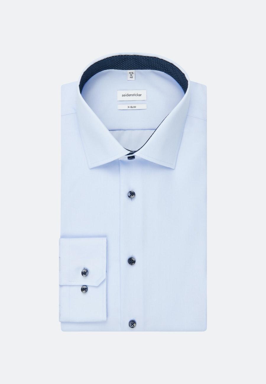Bügelfreies Popeline Business Hemd in X-Slim mit Kentkragen und extra langem Arm in Mittelblau    Seidensticker Onlineshop