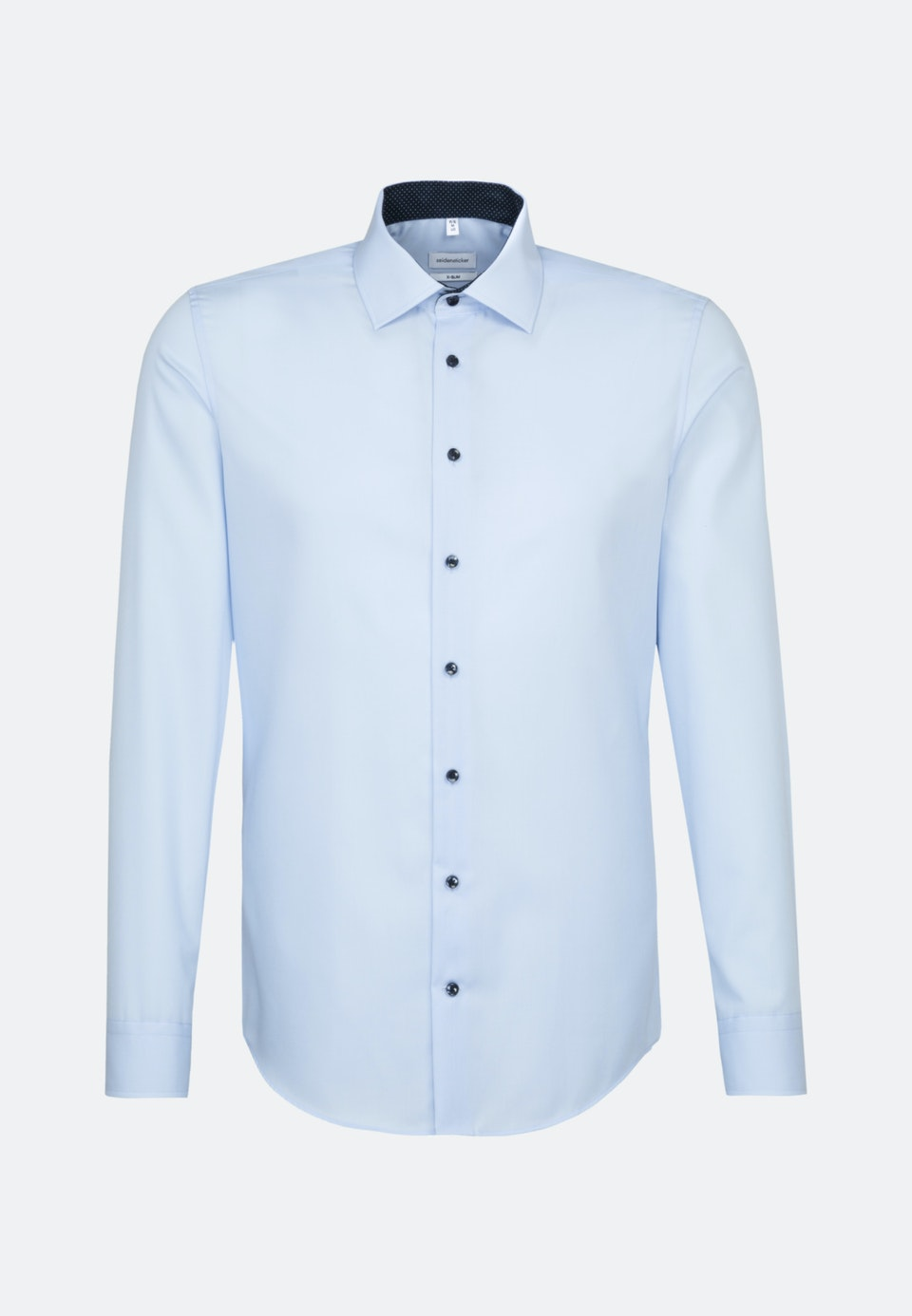 Non-iron Popeline Business Shirt in X-Slim with Kent-Collar and extra long sleeve in Medium blue |  Seidensticker Onlineshop