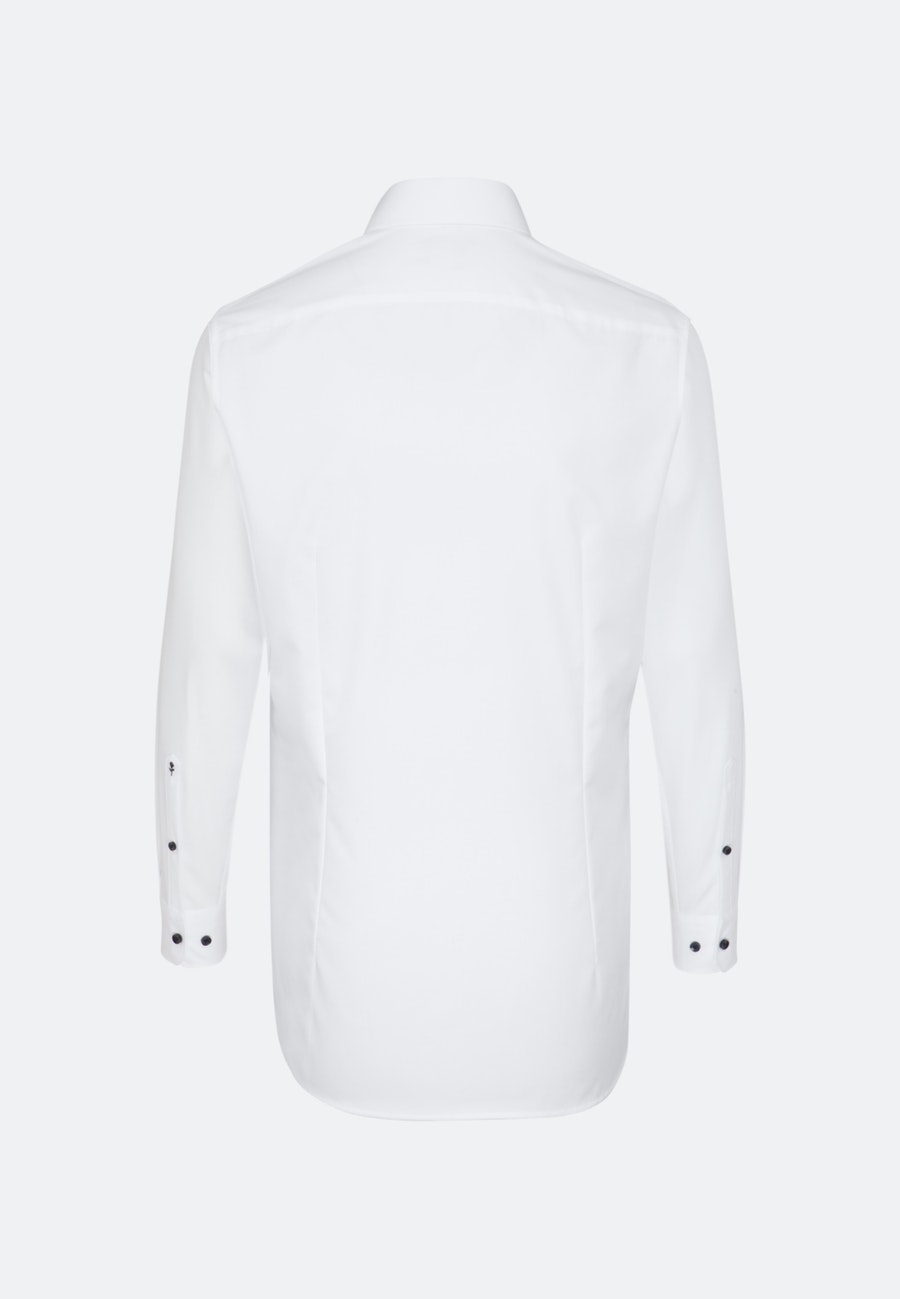 Bügelfreies Popeline Business Hemd in Slim mit Kentkragen und extra langem Arm in Weiß |  Seidensticker Onlineshop