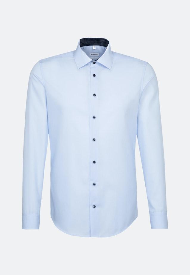 Non-iron Poplin Business Shirt in Slim with Kent-Collar and extra long sleeve in Medium blue |  Seidensticker Onlineshop