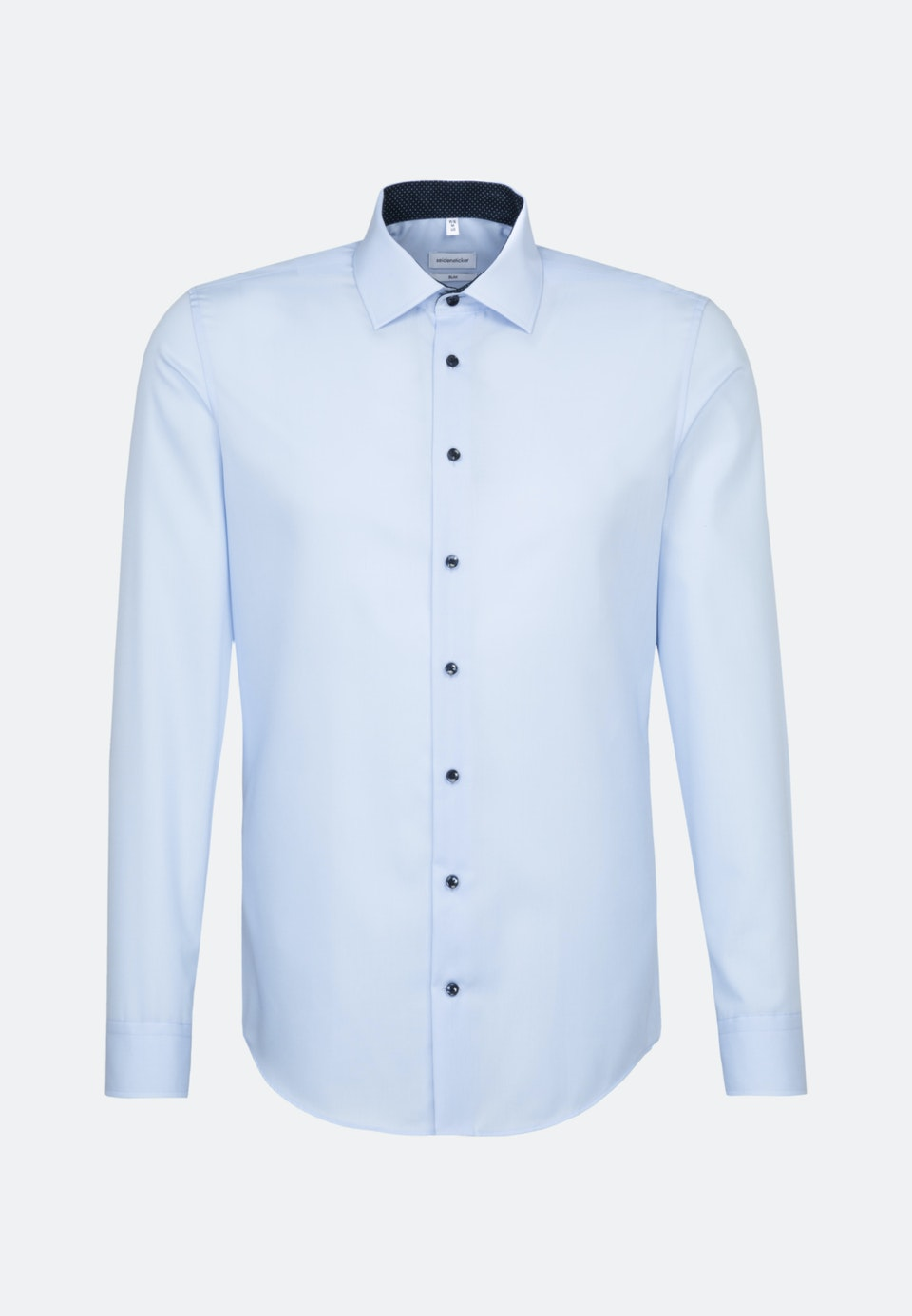 Non-iron Popeline Business Shirt in Slim with Kent-Collar and extra long sleeve in Medium blue |  Seidensticker Onlineshop