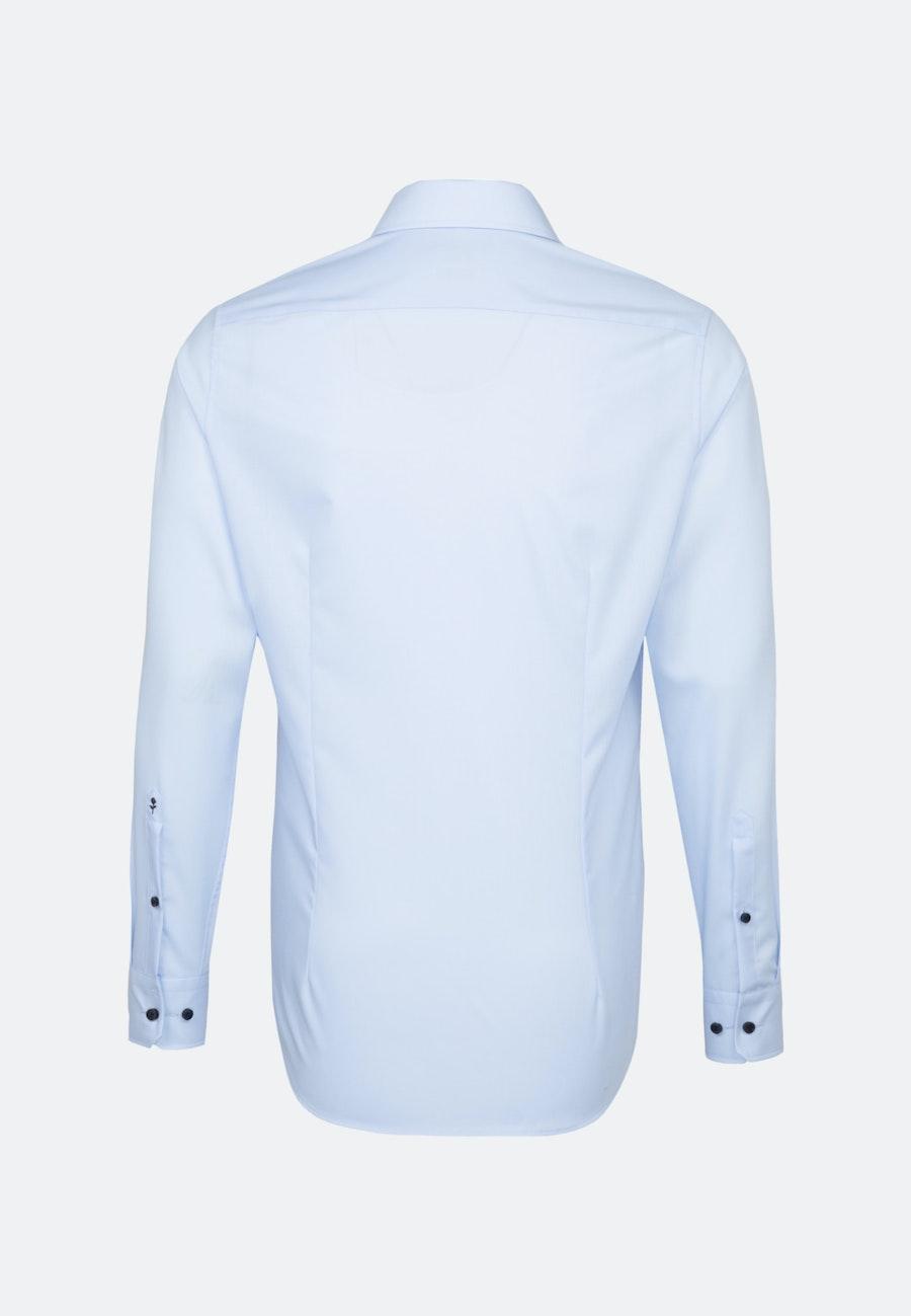 Bügelfreies Popeline Business Hemd in Slim mit Kentkragen und extra langem Arm in Mittelblau |  Seidensticker Onlineshop