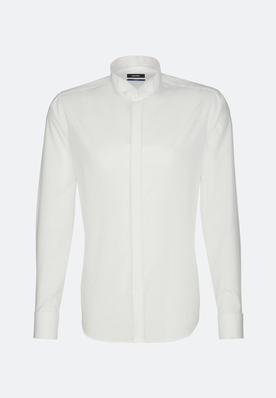 Non-iron Popeline Gala Shirt in Shaped with Wing Collar in Ecru |  Seidensticker Onlineshop