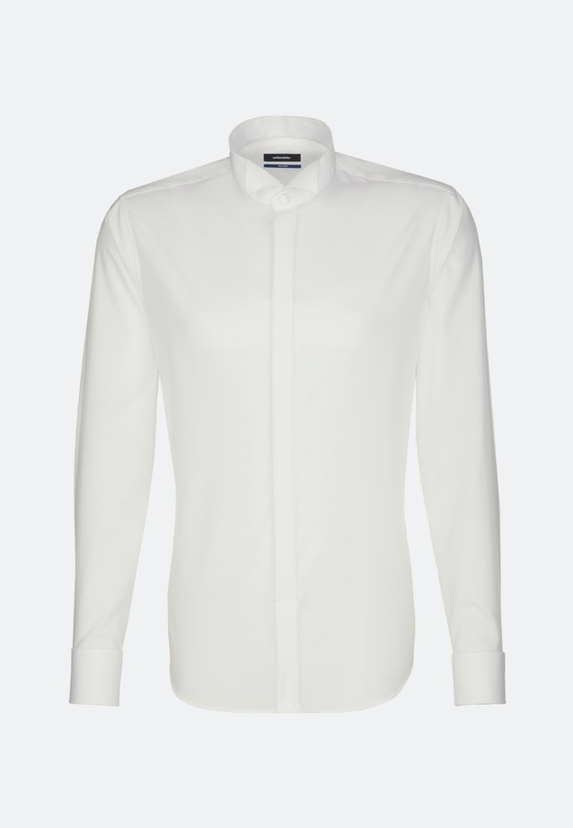 Non-iron Popeline Gala Shirt in Shaped with Wing Collar in Ecru |  Seidensticker Onlineshop