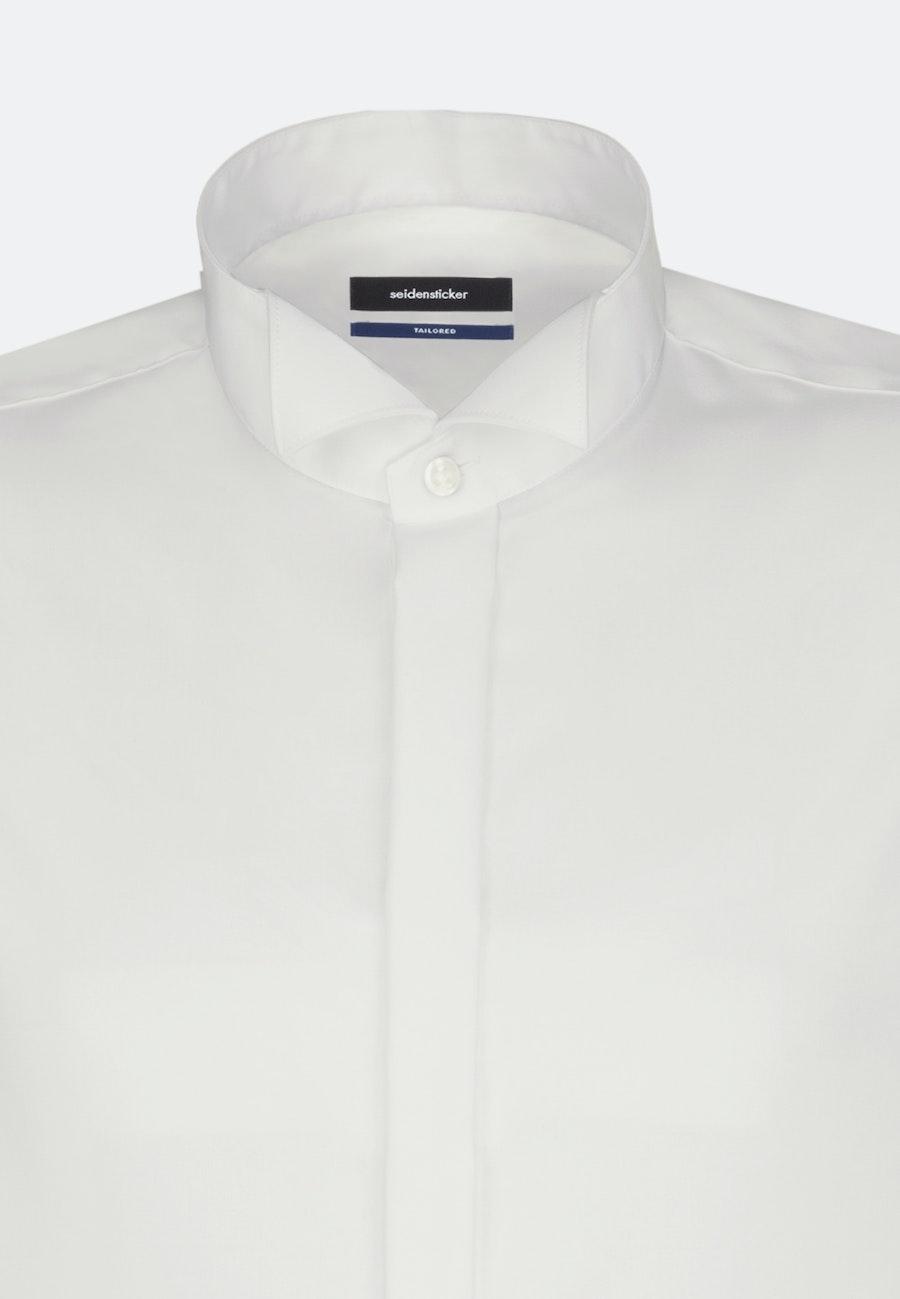 Bügelfreies Popeline Smokinghemd in Shaped mit Kläppchenkragen in Ecru |  Seidensticker Onlineshop