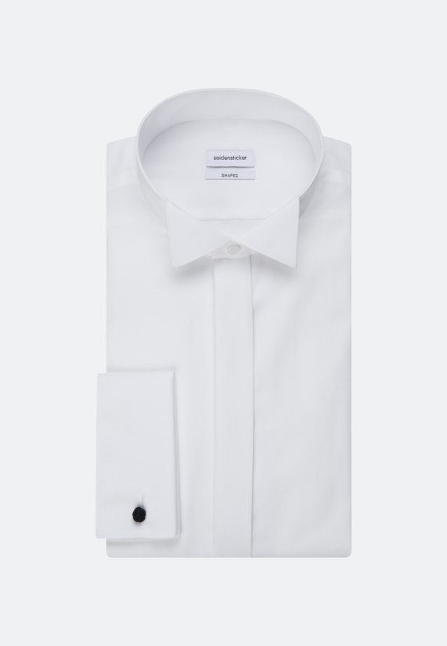 Non-iron Popeline Gala Shirt in Shaped with Wing Collar in White |  Seidensticker Onlineshop