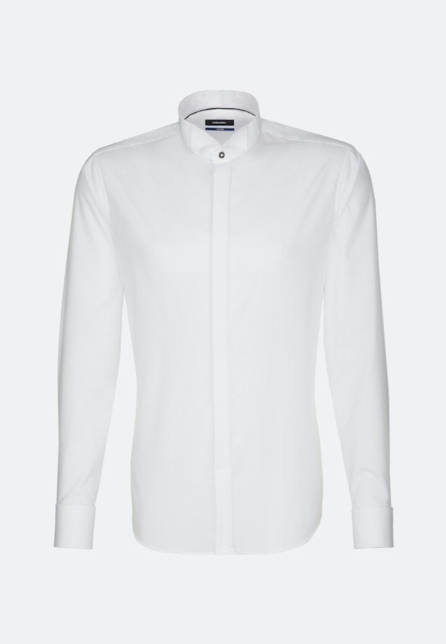 Non-iron Poplin Gala Shirt in Shaped with Wing Collar in White |  Seidensticker Onlineshop