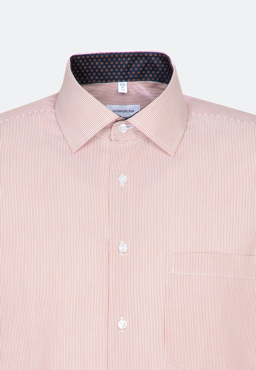 Non-iron Popeline Business Shirt in Regular with Kent-Collar in Orange |  Seidensticker Onlineshop