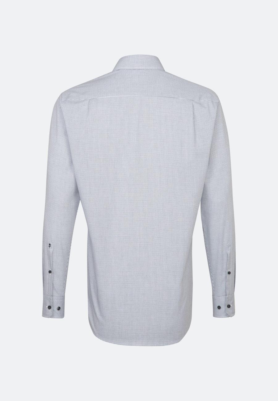 Bügelfreies Popeline Business Hemd in Regular mit Kentkragen in Schwarz |  Seidensticker Onlineshop