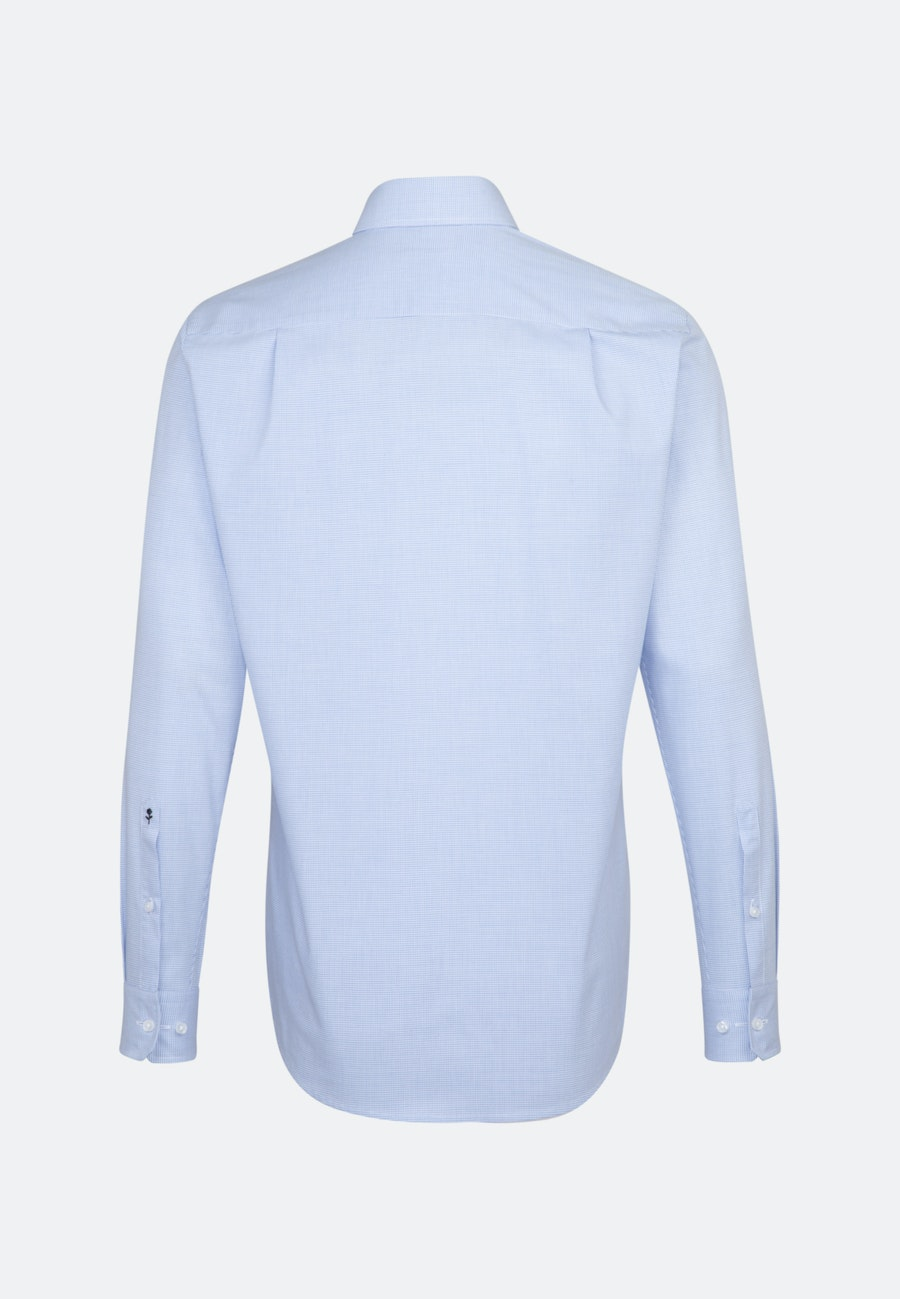 Non-iron Poplin Business Shirt in Regular with Kent-Collar in Light blue |  Seidensticker Onlineshop