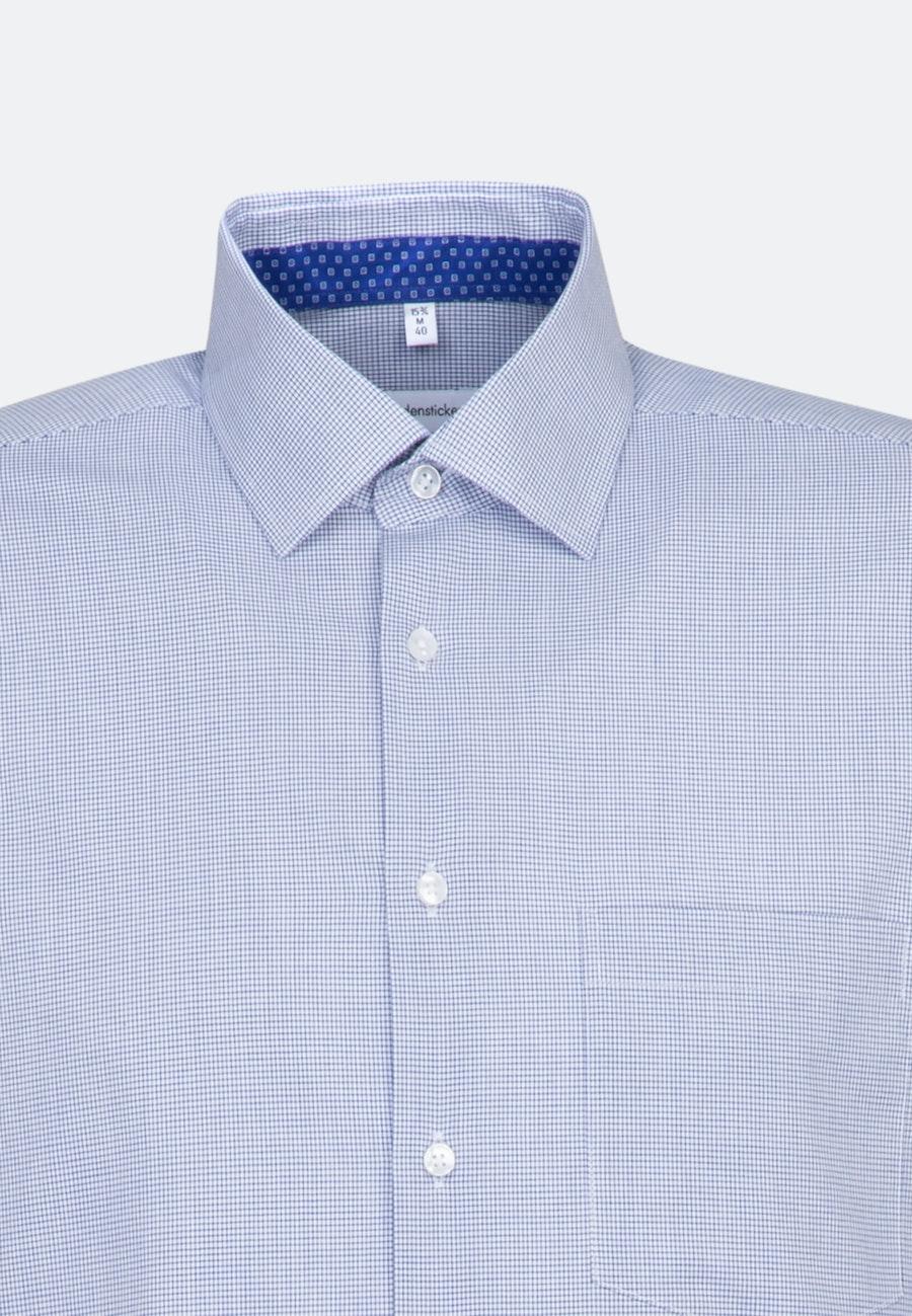 Non-iron Poplin Business Shirt in Regular with Kent-Collar in Medium blue    Seidensticker Onlineshop