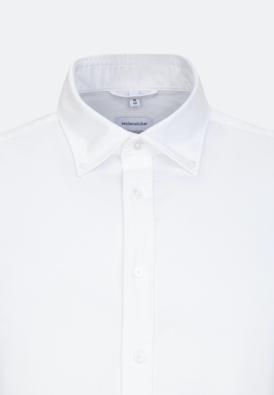 Easy-iron Oxford Business Shirt in Regular with Button-Down-Collar and extra long sleeve in White |  Seidensticker Onlineshop