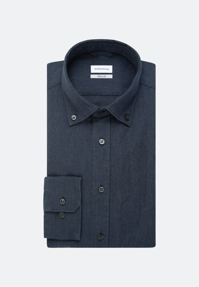Panama Business Shirt in Regular with Button-Down-Collar in Grey |  Seidensticker Onlineshop