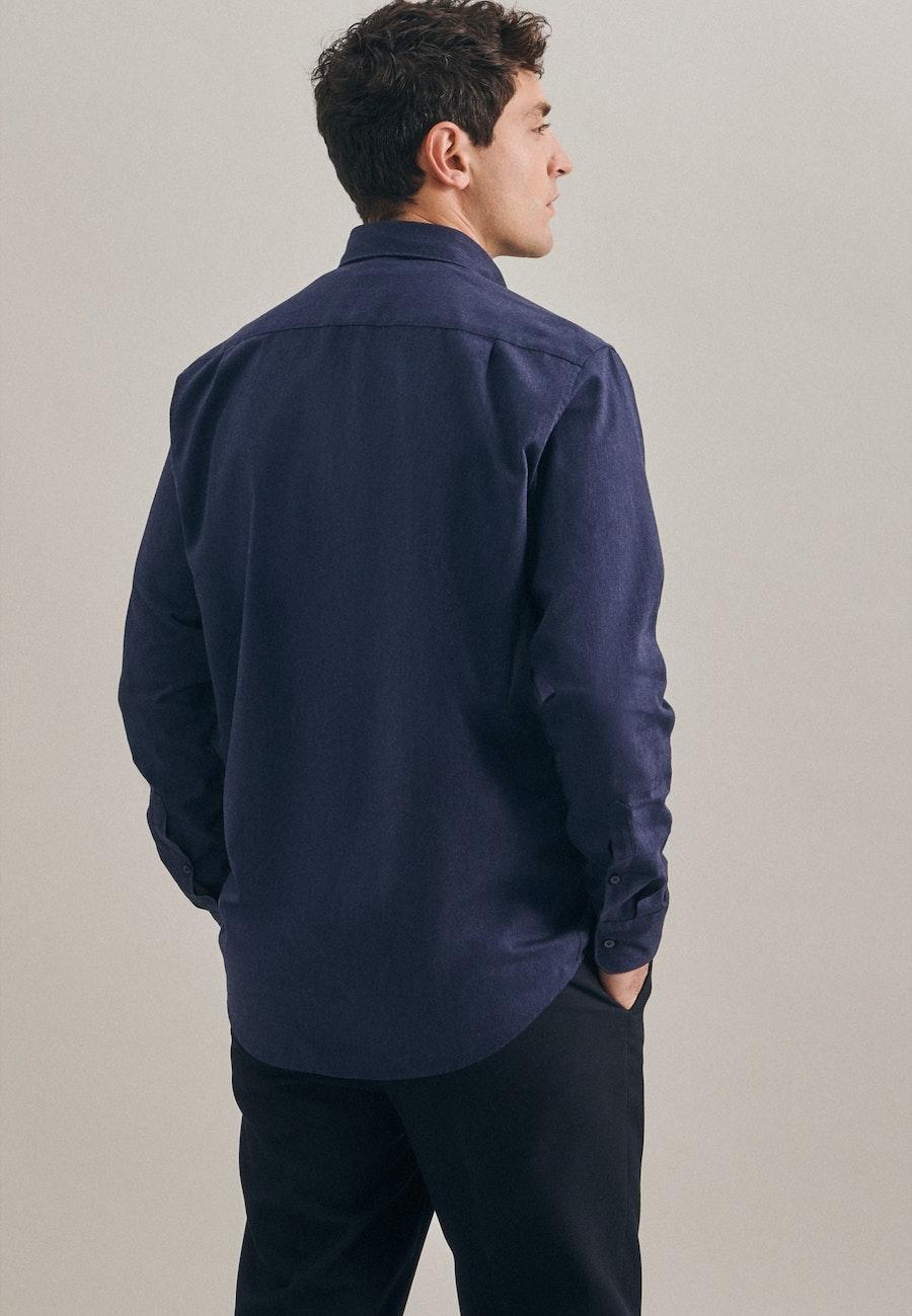 Panama Business Hemd in Regular mit Button-Down-Kragen in Dunkelblau    Seidensticker Onlineshop
