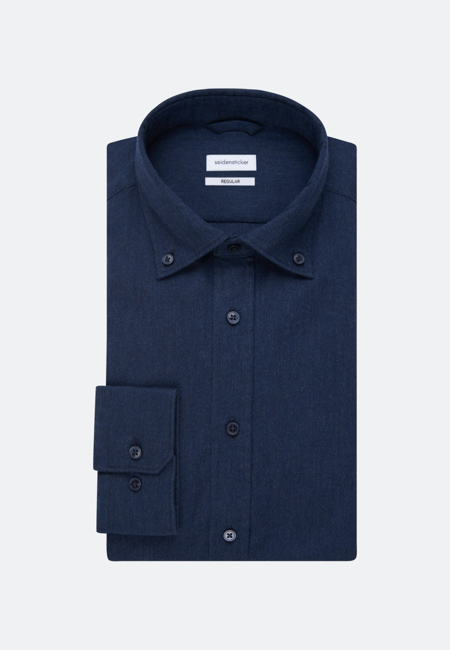 Panama Business Hemd in Regular mit Button-Down-Kragen in Dunkelblau |  Seidensticker Onlineshop