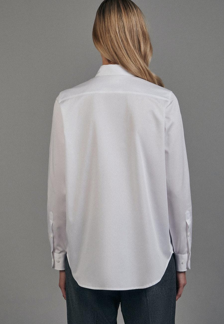 Twill Hemdbluse aus 100% Baumwolle in Weiß |  Seidensticker Onlineshop