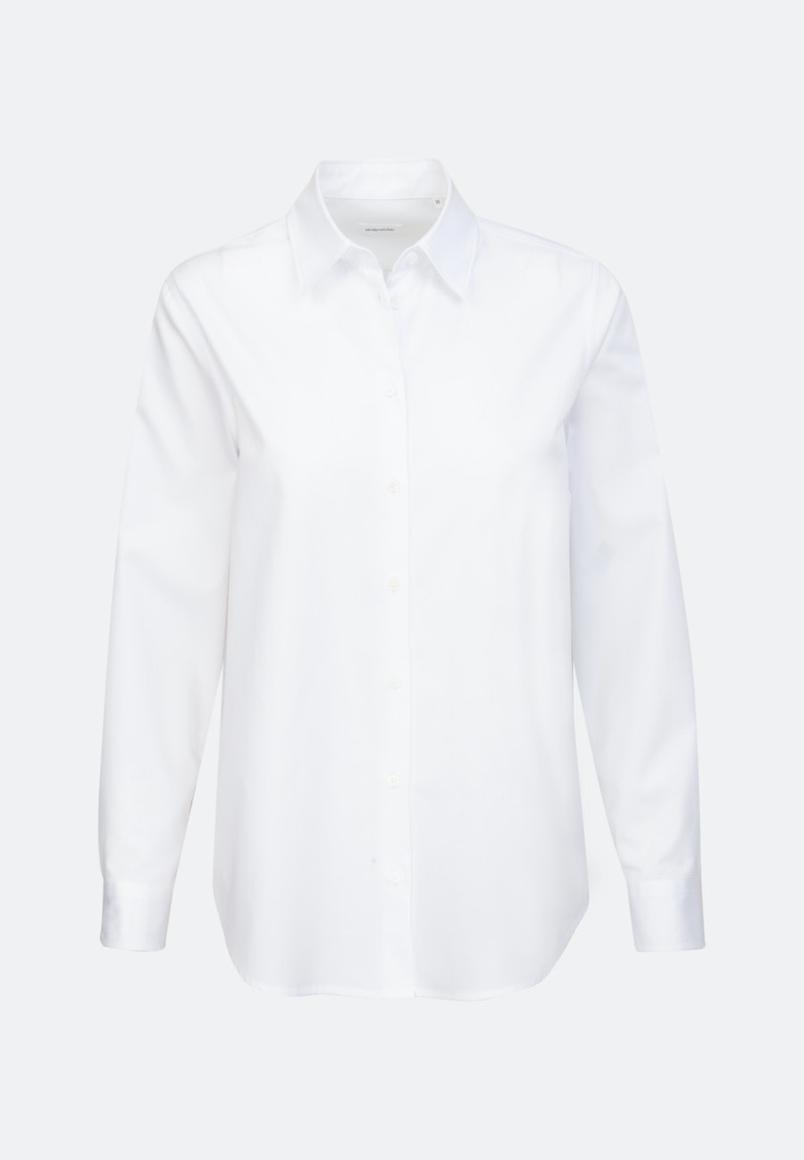 Twill Shirt Blouse made of 100% Cotton in White |  Seidensticker Onlineshop