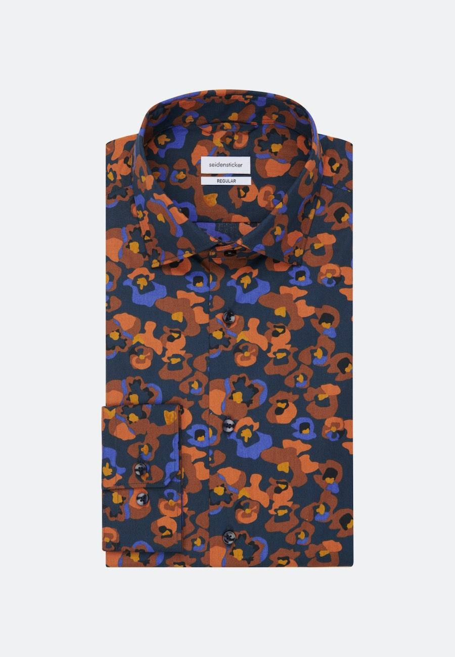 Easy-iron Poplin Business Shirt in Regular with Kent-Collar in Orange |  Seidensticker Onlineshop